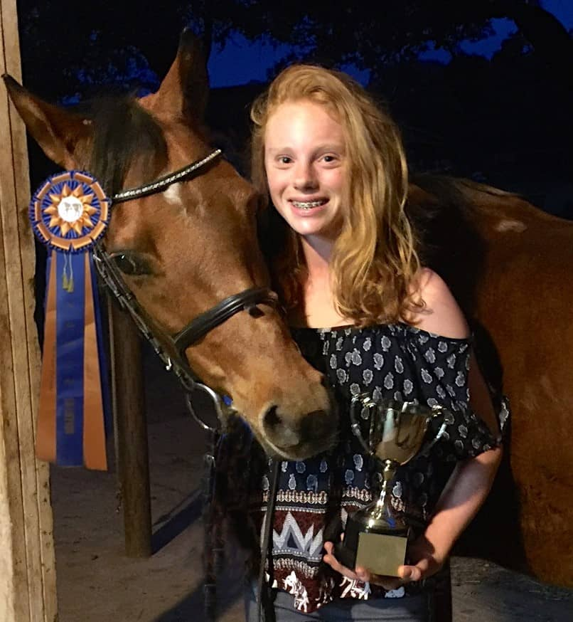 Twelve-Year-Old Lucy Bartlett Wins Accuhorsemat Cup at 2016 Sport Horse National Arabian and Half-Arabian Championship