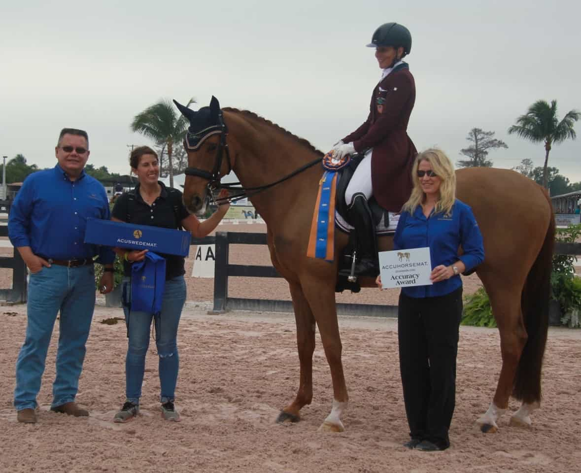 Dutta and Dimacci DC Earn the Accuhorsemat Accuracy Award at Adequan Global Dressage Festival