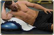 acupressure mat position: back/sides