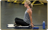 acupressure-mat-position: glutes, sitting