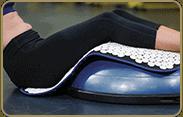 acupressure-mat-position: hamstring/calves