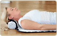 acupressure therapy mat, lying down