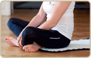 acupressure therapy mat, sitting